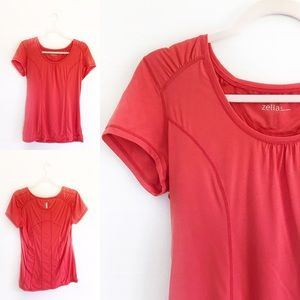 Zella Coral Workout Athletic Short Sleeve Tee